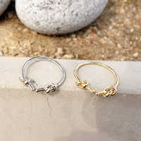 Double Knot Open Ring | MIXXMIX