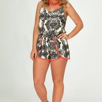 Who's That Girl Romper: Multi - Tops - Hope's Boutique