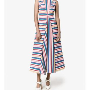 EMILIA WICKSTEAD | Milly Sleeveless Stripe Dress | Womenswear | Browns Fashion