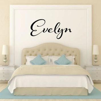 Evelyn Name Wall Decal