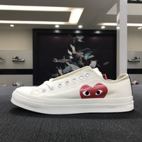 CDG Play x Converse Chuck Taylor 1970s White Red Low Skateboarding Shoes Sneaker