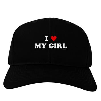 I Heart My Girl - Matching Couples Design Adult Dark Baseball Cap Hat by TooLoud