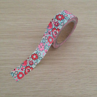 Washi tape with flowers