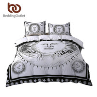 BeddingOutlet Sun God Bedding Set Moon God Black and White Duvet Cover Cozy Twin Full Queen King Qualified Duvet Cover Set
