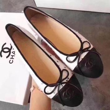 CHANEL BOW Women Fashion Loafer Flats Shoes3