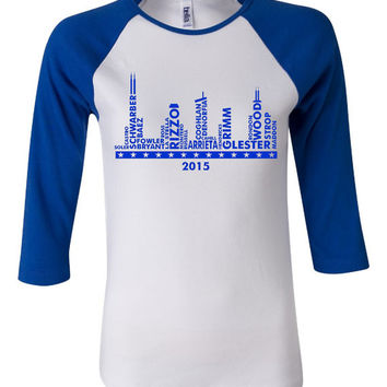 Chicago Skyline Cubs Fan T Shirt ONLY HERE Original design Cubs Fan Playoff Bella Brand Jersey Top