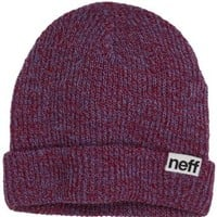 neff Men's Fold Heather Beanie, Blue/Red, One Size