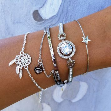 Dream Catcher Star Bracelet Stack