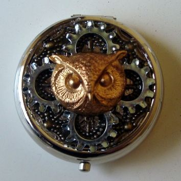 Owl & Gears Pill Box