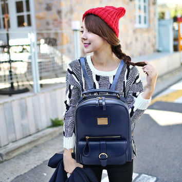 College Back To School Hot Deal Casual Comfort On Sale Stylish England Style Black Korean Backpack [8226764743]
