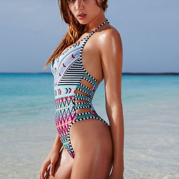 Lattice-strap One-piece - Victoria's Secret Swim - Victoria's Secret