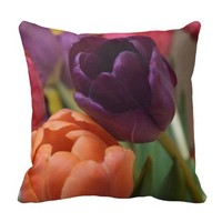 Tulips Designed Throw Pillow