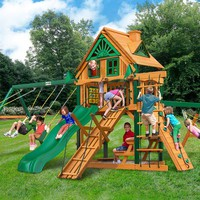 Gorilla Playsets Frontier Treehouse Wooden Swing Set