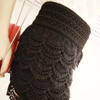 Tiered Lace Crochet Culottes