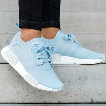 """Adidas"" NMD Boost Fashion Trending Blue Leisure Running Sports Shoes"