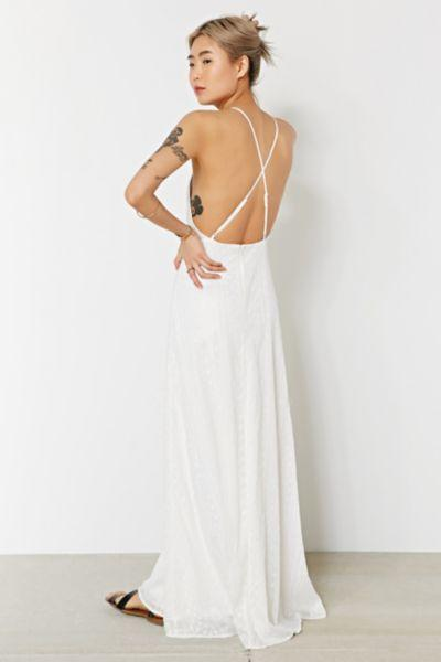 Kimchi Blue Apron Neck Embroidered Maxi From Urban Outfitters
