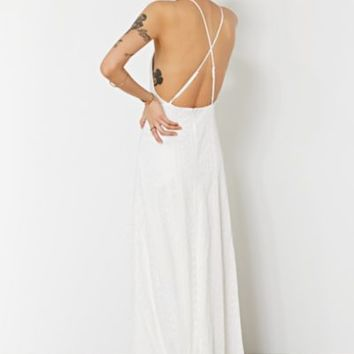 Kimchi Blue Apron Neck Embroidered Maxi Dress