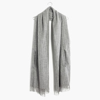 Cape Scarf in Pinstripe
