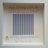 Happy birthday little man/ girl you have growing up so fast scrabble personalised handmade scrabble photo frame custom birthday day gift