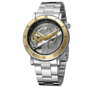 FORSINING Automatic Mechanical Watch Dial Hollow Skeleton Mens Waterproof Watches