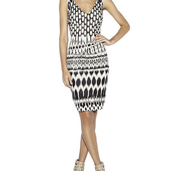 Nicole Miller Kenna Ikat Print Sheath Dress