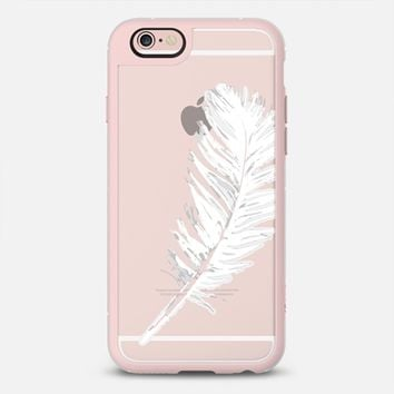 lovely white feather iPhone 6s case by Julia Grifol Diseñadora Modas-grafica | Casetify