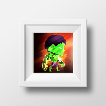 The Hulk / The Avengers / Marvel Comics / Digital Art Print / Instant Download
