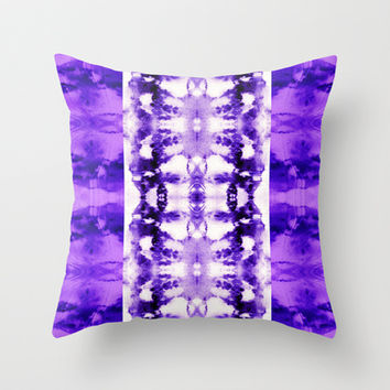 Tie Dye Purples Throw Pillow by Nina May