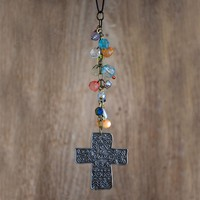 Cross  Car  Charm  From  Natural  Life
