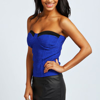 Sara Textured Bandeau Top