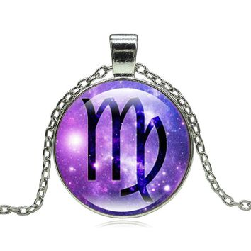 Virgo Of Zodiac Pendant Necklace