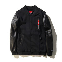Supreme Men's Fashion Zippers Thicken Cotton Jacket [9391648967]