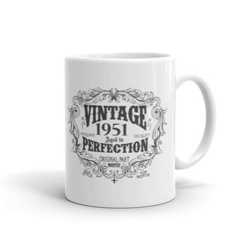 Vintage aged to perfection Born in 1951 66 years old Coffee Mug