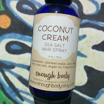 Coconut Cream Sea Salt Hair Spray ~ Texture Spray ~ Hair Mist ~ Scented Hair Spray ~ Salt Spray ~ Beach Waves Spray~ Hair Perfume