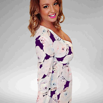 Love Letters Floral Playsuit