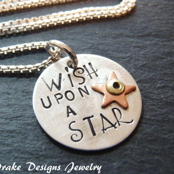 Sterling Silver wish upon a star necklace