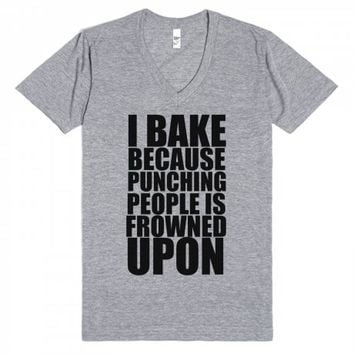 i bake because punching people is frowned upon | | SKREENED