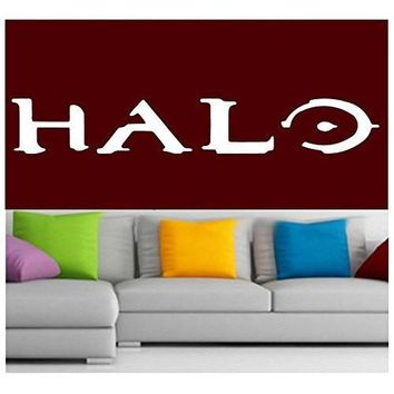 Halo Logo Decal Sticker Vinyl for Window Wall video Game Laptop Console Xbox 360