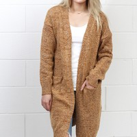 Long Line Oversized Knit Cardigan {Wood Mix} EXTENDED SIZES
