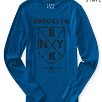 Aeropostale  Long Sleeve Free State Brooklyn Shield Graphic T