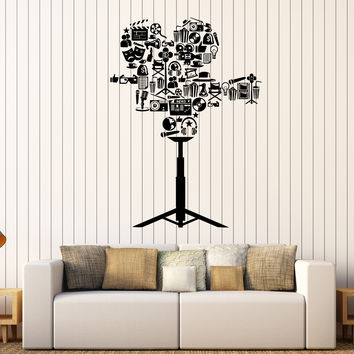 Vinyl Wall Decal Camera Film Cinema Movie Lover Stickers Mural Unique Gift (368ig)