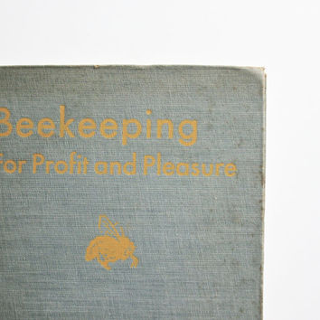 The Bees - Vintage Beekeeping Book - Antique - 1943 - Bees - Insects - Garden - Mustard - Yellow - Gray