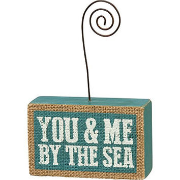 You & Me By The Sea - Wood and Jute Photo Holder 4-in