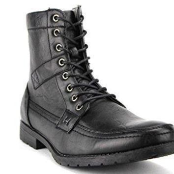 New Men's D-710 Lace Up Mid Calf High Military Boots