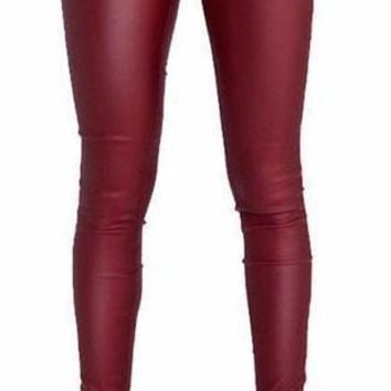 Brooklyn Park Faux Leather Pencil Pants