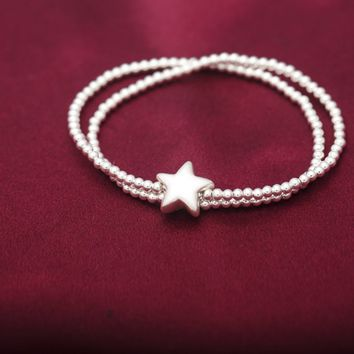 Simple fashion 925 sterling silver bracelet,a perfect gift