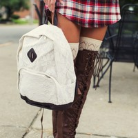 Because I'm All About That Lace Backpack