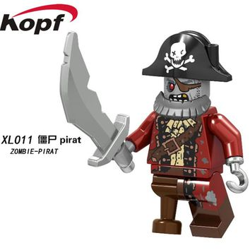 XL011 Super Heroes Movie Series 14 Halloween Monsters Zombie Pirate 71010 Bricks Building Blocks Figure For Children Gift Toys