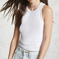 Ribbed Cropped Tank Top