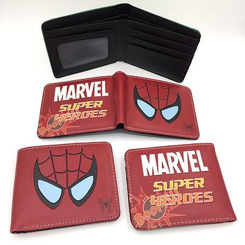 new cute super heroes wallet marvel pu purse wallets lovely superman batman ironman spiderman dealpool hulk children card holder